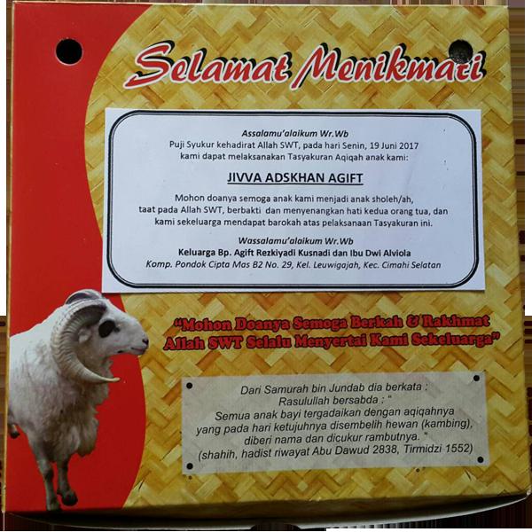 Dapur Aqiqah Rumah Aqiqah Bandung Akikah Anak Cimahi Kambing Qurban Domba Aqiqah 9